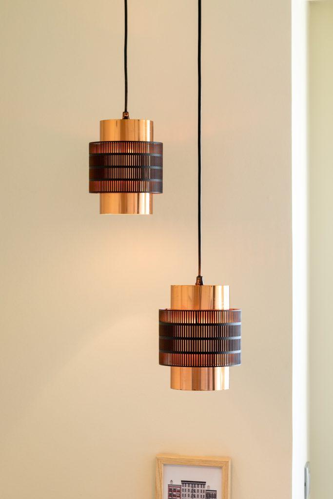 lampara de laton, diseño danes
