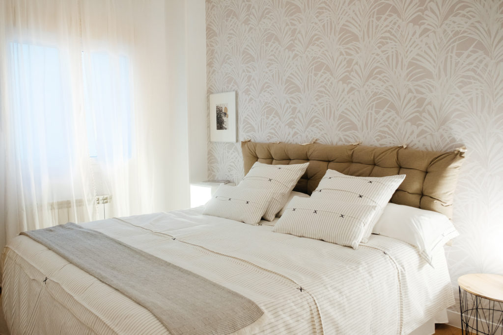 cama con textil de Calma House